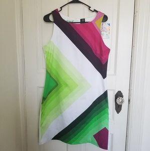 New Desigual colorful white dress
